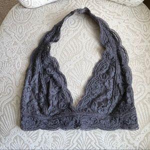 Gray Lace Halter UO Bralette